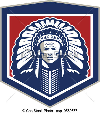 Chief clipart shield Shield csp19589677  American Native