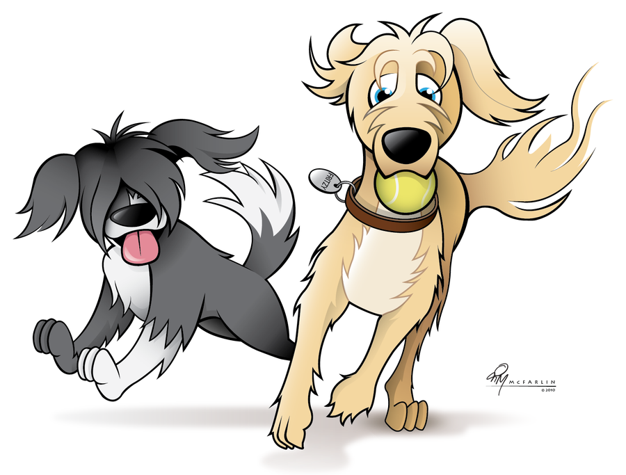 Pets clipart two dog #1