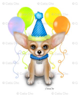Chihuahua clipart birthday Boy M Spoonflower Birthday Birthday