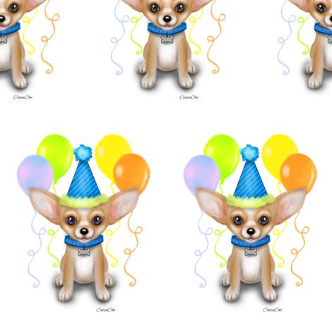 Chihuahua clipart birthday Catiacho M fabric Birthday fabric