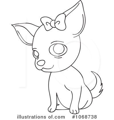 Chihuahua clipart black and white Clipart Chihuahua Art Download White
