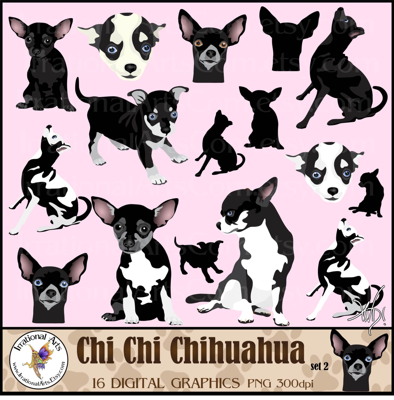Chihuahua clipart chihuahua dog Gorgeous 2 Chihuahua file set