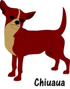 Chihuahua clipart chihuahua dog Red dog brown Little chihuahua