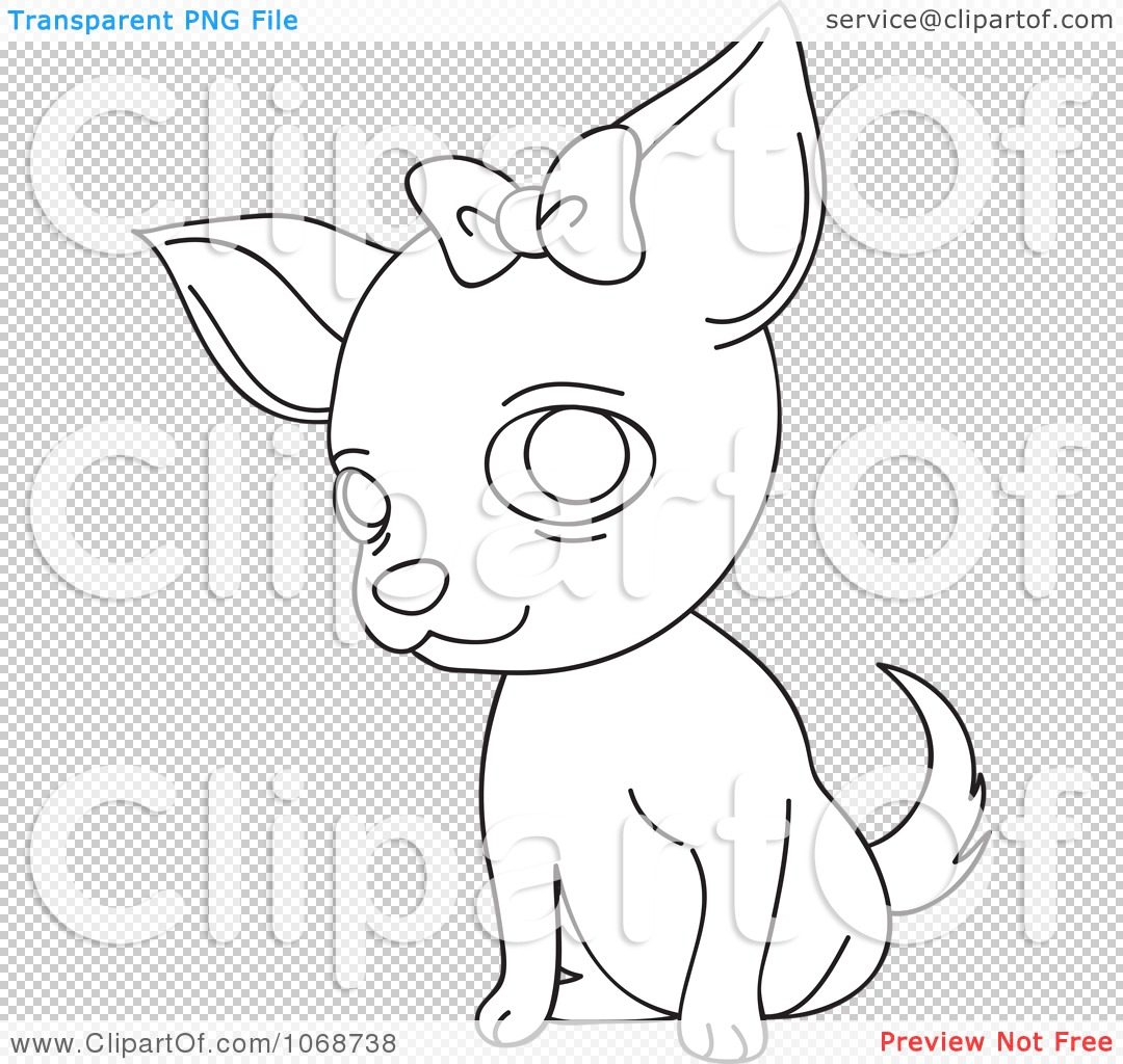 Chihuahua clipart coloring page With Chihuahua Coloring  Coloring