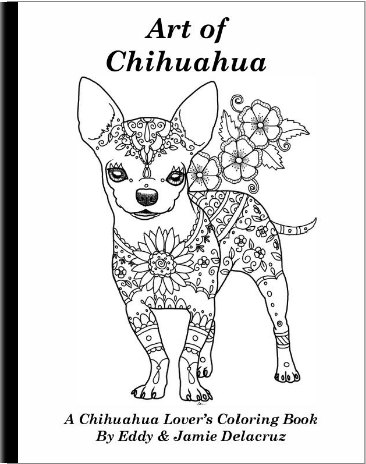 Chihuahua clipart coloring page Book of Chihuahua Volume Art