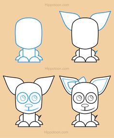 Chihuahua clipart draw a How drawing sheet model