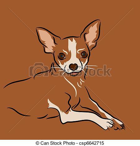 Chihuahua clipart drawing Drawing a Chihuahua; vector chihuahua;