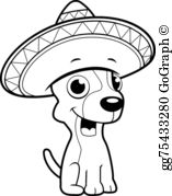 Chihuahua clipart drawing EPS GoGraph Clip Stock Sombrero