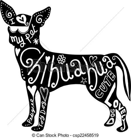 Chihuahua clipart drawing  Dog drawn Dog Chihuahua