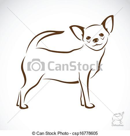 Chihuahua clipart drawing Dog chihuahua Clipart  Vector