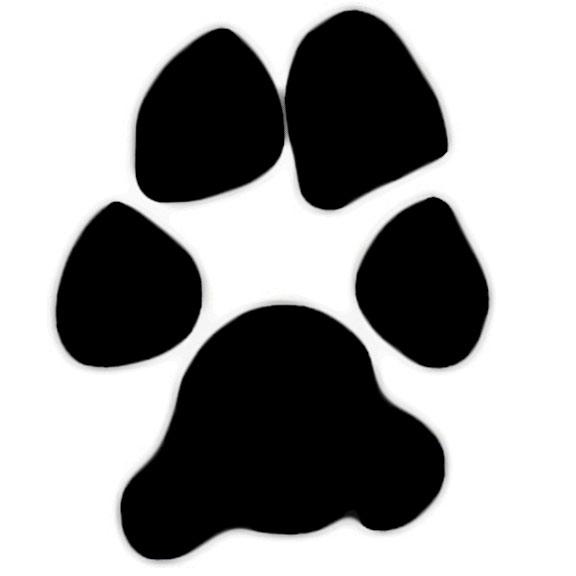 Footprint clipart dog Art paw  prints clipart