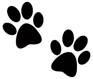Paw clipart silhouette Paw Two Paw Dog Silhouette