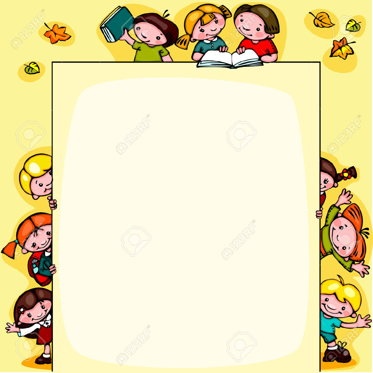 Child clipart boarder Clipart borders backgrounds Little and