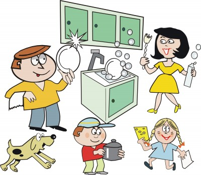 Child clipart cleaning house Cleaning the Fun  Family