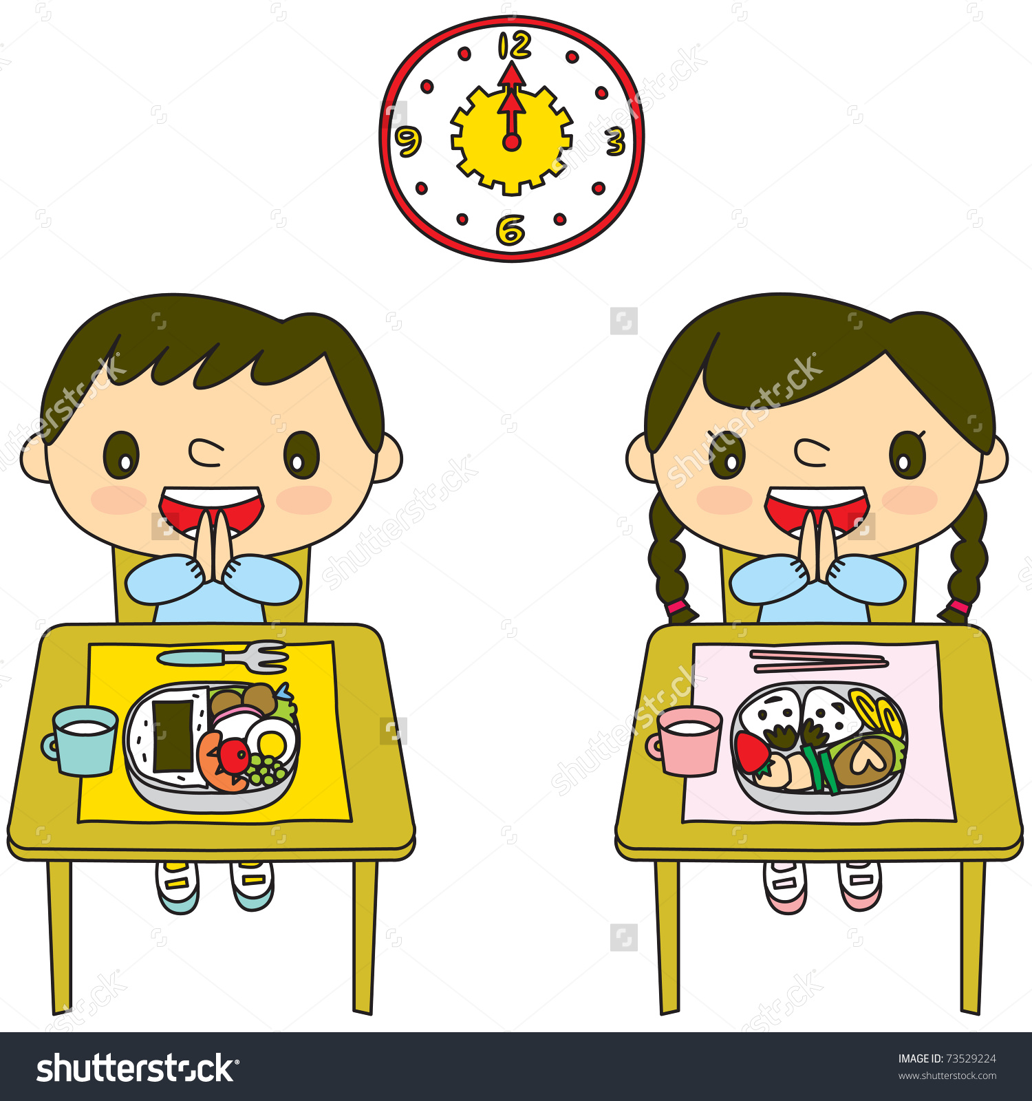 Child clipart lunch time Time Clipart of lunch time