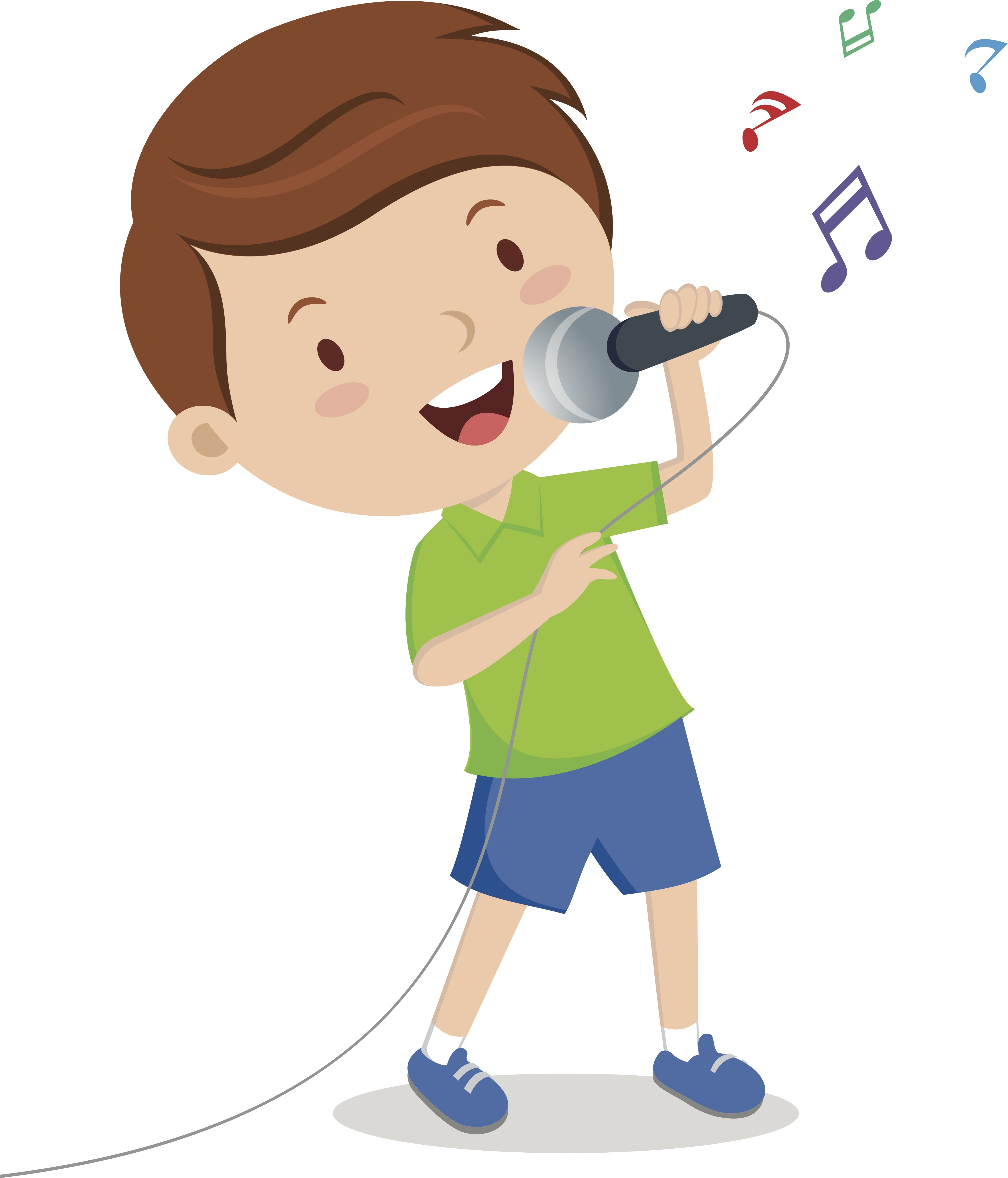 Child clipart singing song Car Song in that Through