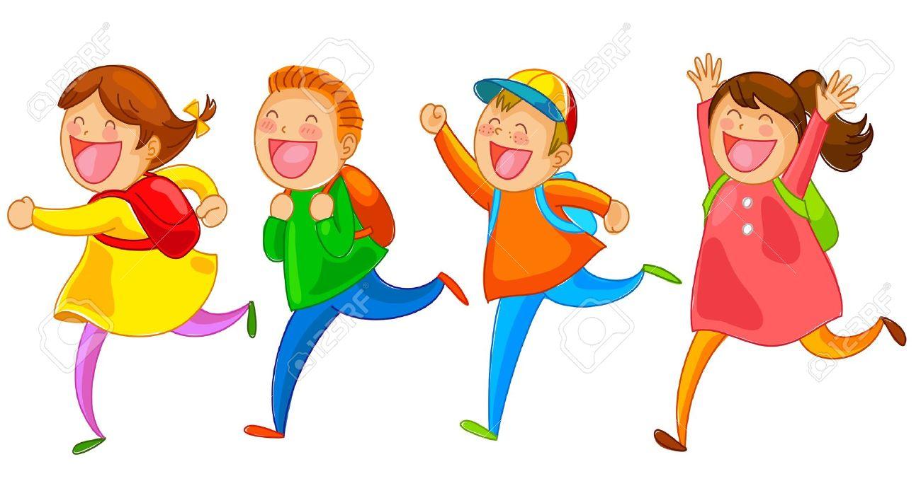Kids Running Clipart #10