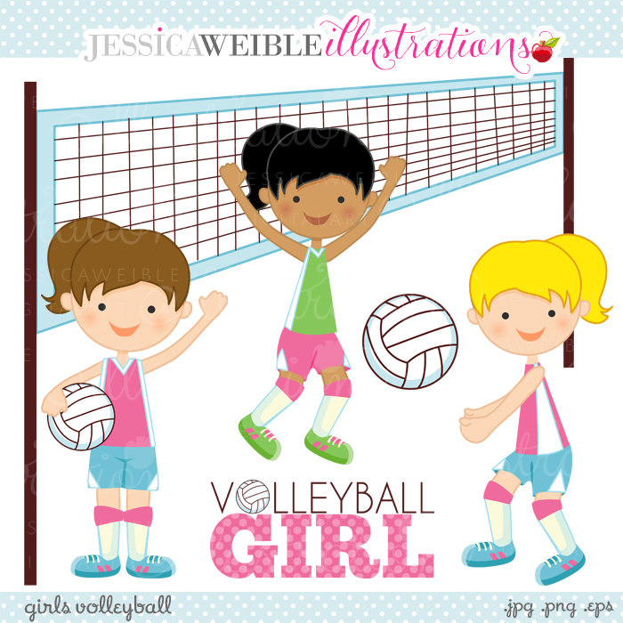 Child clipart volleyball Commercial Volleyball Digital Use