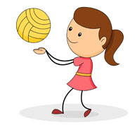 Child clipart volleyball For vollyball playing Results vollyball