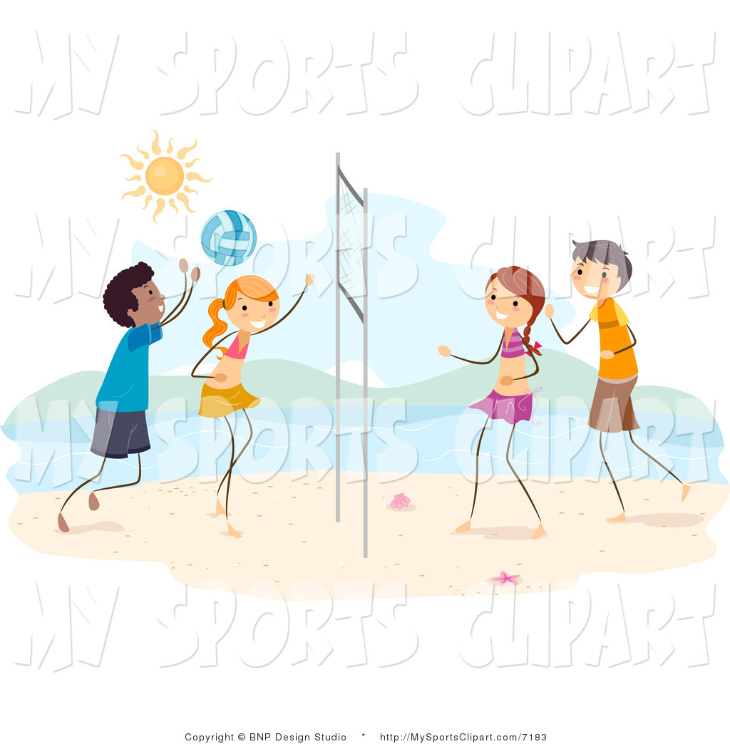 Child clipart volleyball Playing Playing Volleyball Kids Art