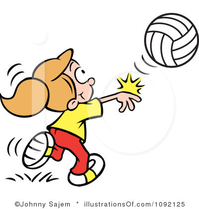 Child clipart volleyball Black clipart Free Volleyball