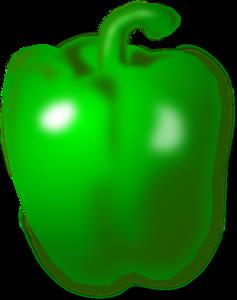 Chili clipart green capsicum Online clip Green vector Clker