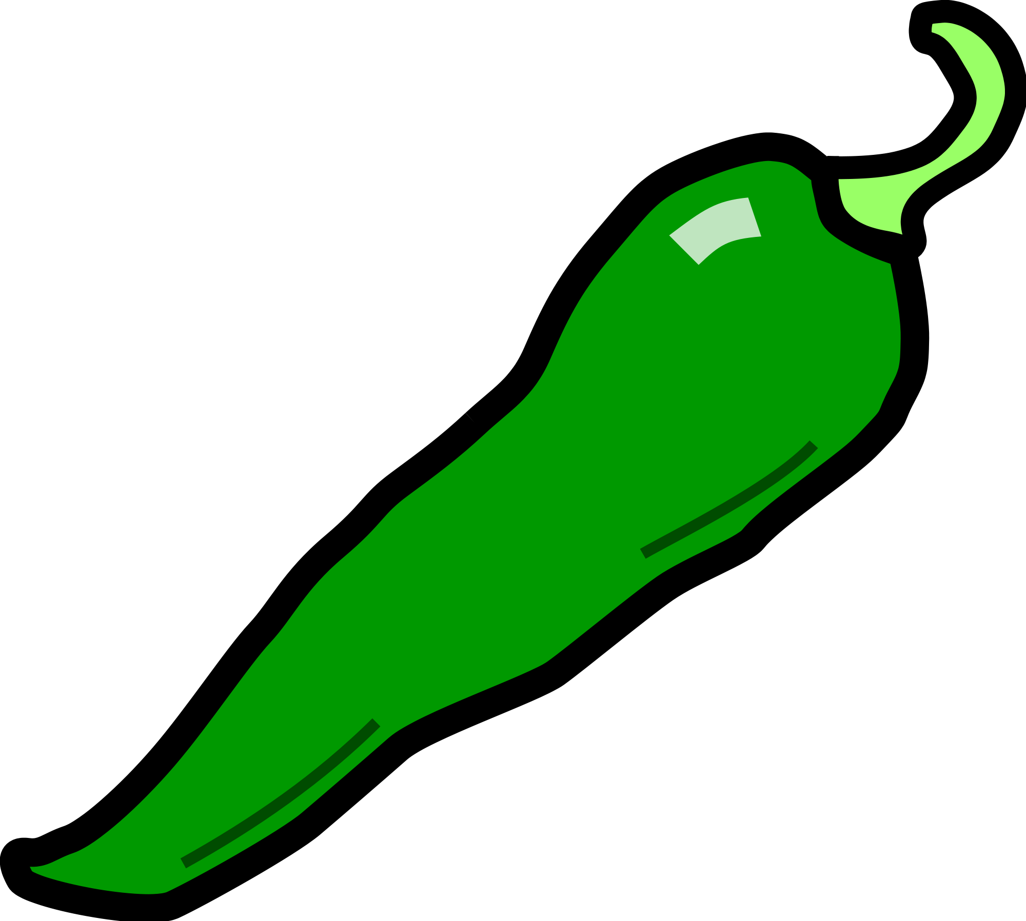 Red clipart green chili #5