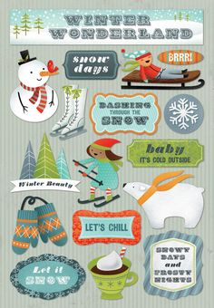 Chill clipart brrr Wonderland http://www Collection  Stickers