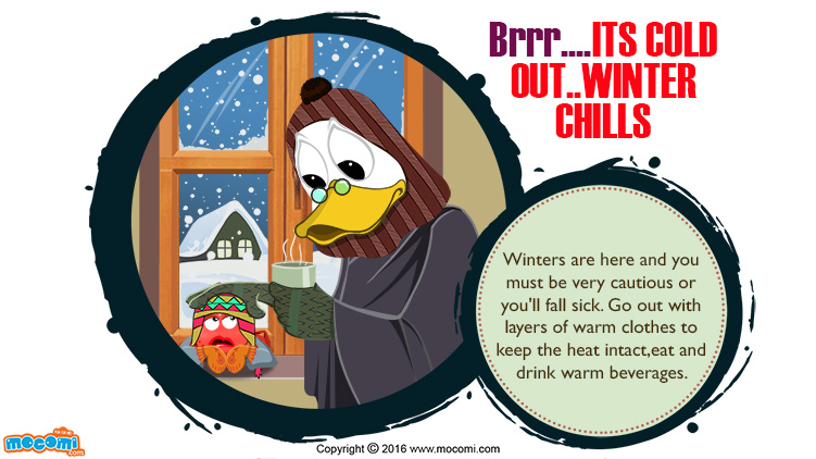 Chill clipart brrr Chills for It's Kids Out