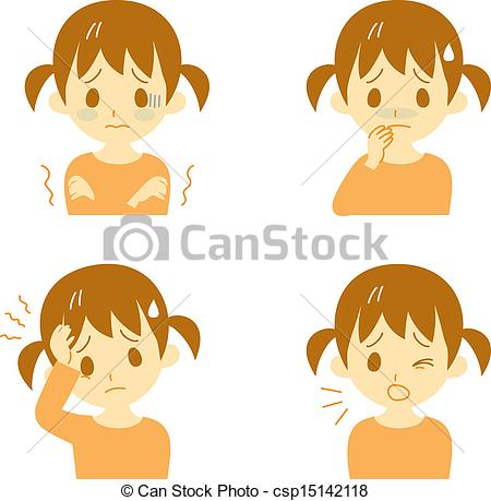 Chill clipart illness Csp15142118 Disease of girl