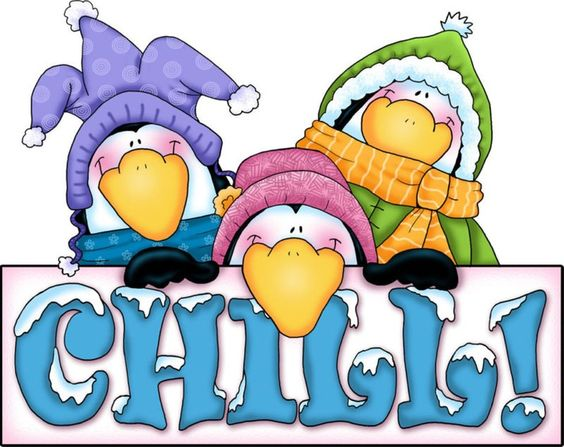 Chill clipart penguin &  WINTER CLIPART chill