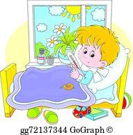 Chill clipart sickly child Sick EPS Sick boy Vector