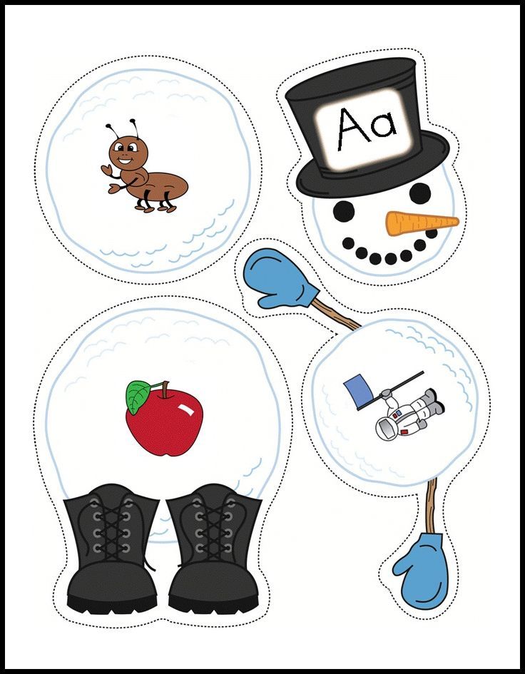 Chilling clipart winter word Winter Alphabet Build activity themed