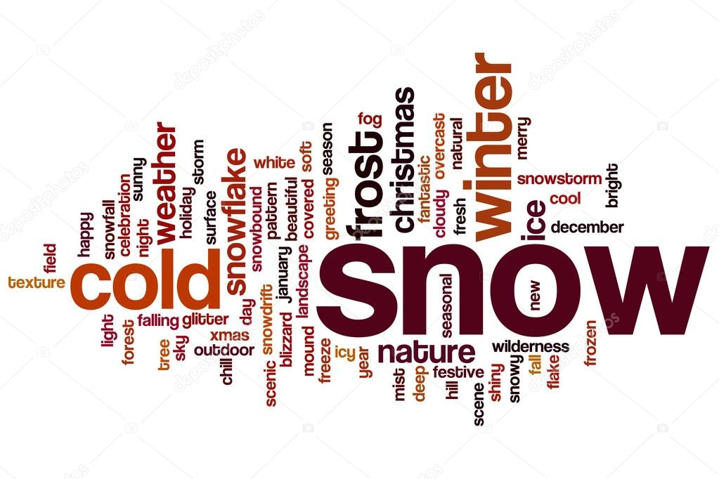 Chilling clipart winter word Cloud — Snow Stock —