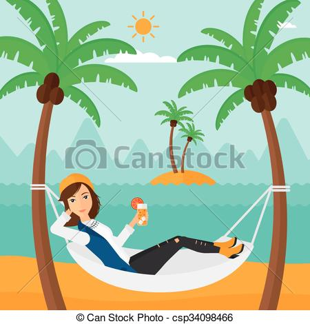 Chilling clipart lazy guy Chilling woman hammock A Woman