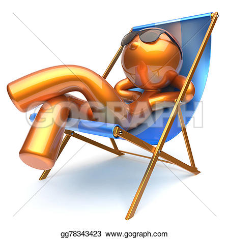 Chilling clipart Comfort sunglasses Man golden beach