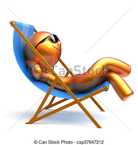 Chilling clipart Clipart person Man smiley chair