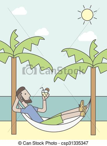 Chilling clipart In Man A EPS csp31335347