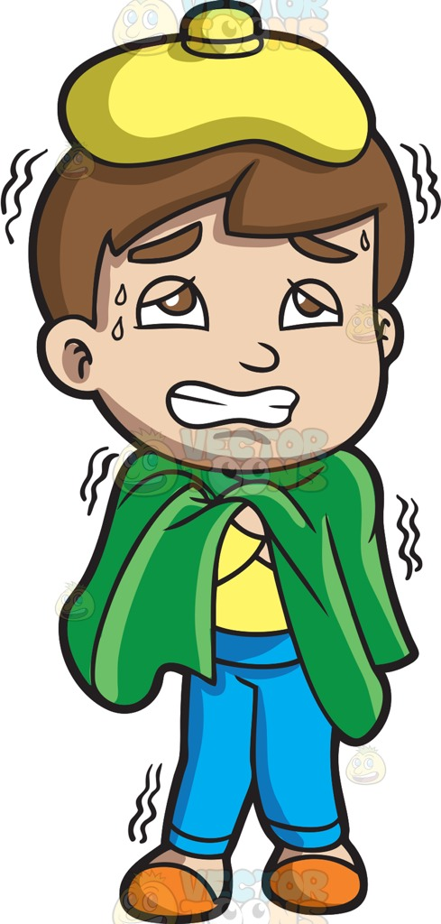 Chilling clipart sick person Sick Fever Guy A Because