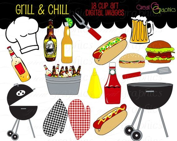 Chilling clipart too Download Clip BBQ Pinterest &