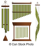 Chimes clipart Set wind 966 brass royalty