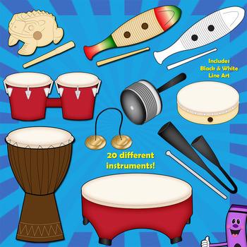 Chimes clipart percussion instrument Bundle Art Clip Instruments: Classroom