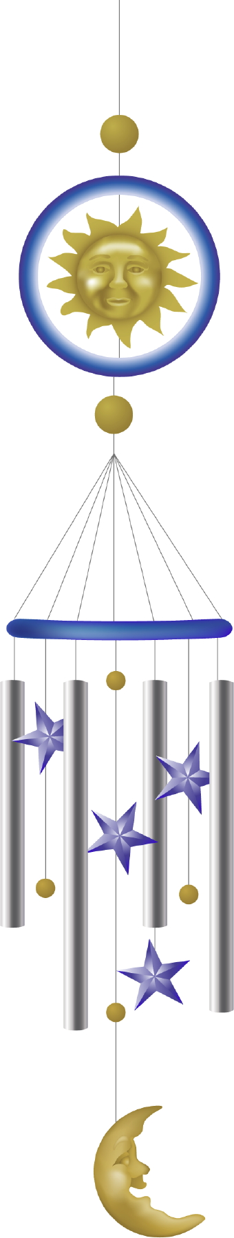 Chimes clipart wind chime Sun Sun Moon And And