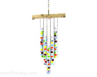 Chimes clipart wind chime Random Stick Windchime Rainbow Dot