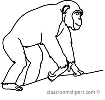 Chimpanzee clipart Chimpanzee Clipart Clipart Panda Free