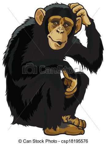 Chimpanzee clipart Chimpanzee Clipart Images Free Clipart
