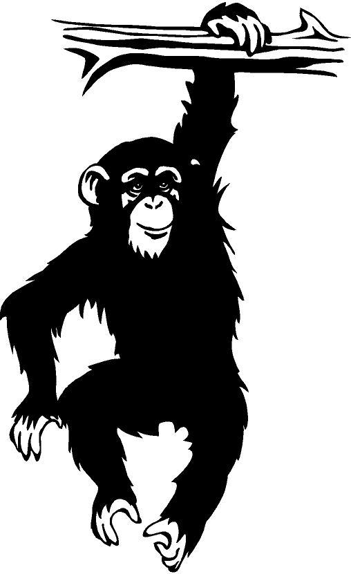 Chimpanzee clipart moneky Art Image Chimpanzee Clip Free