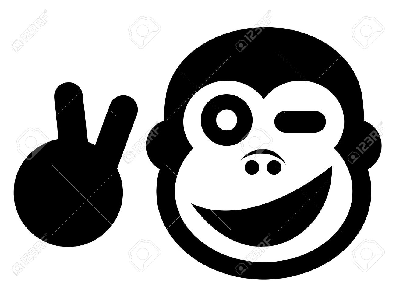 Chimpanzee clipart moneky Faces images Smiling Monkey Pinterest