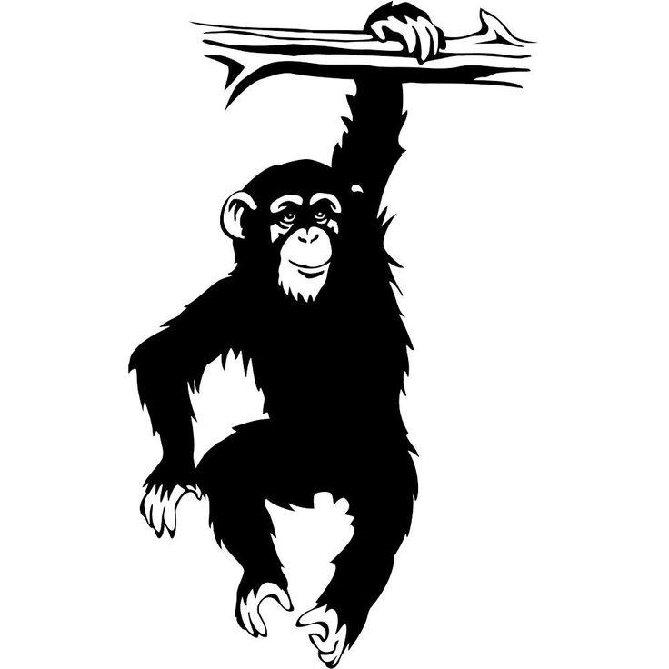 Chimpanzee clipart moneky Hanging tree Cartoon Monkeys Monkey