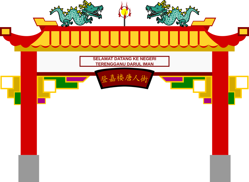 China Town clipart chinese palace Art for Chinatown use on